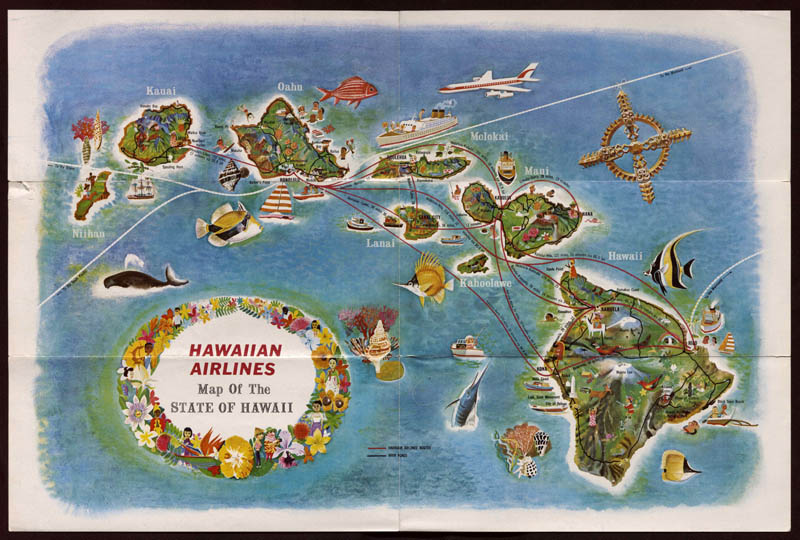 Hawaiian Airlines Map of the State of Hawaii from Hawaiian Airlines See All Hawaii. Copyright of this material is retained by the content creators. John W. Hartman Center, Duke University does not claim to hold any copyrights to these materials