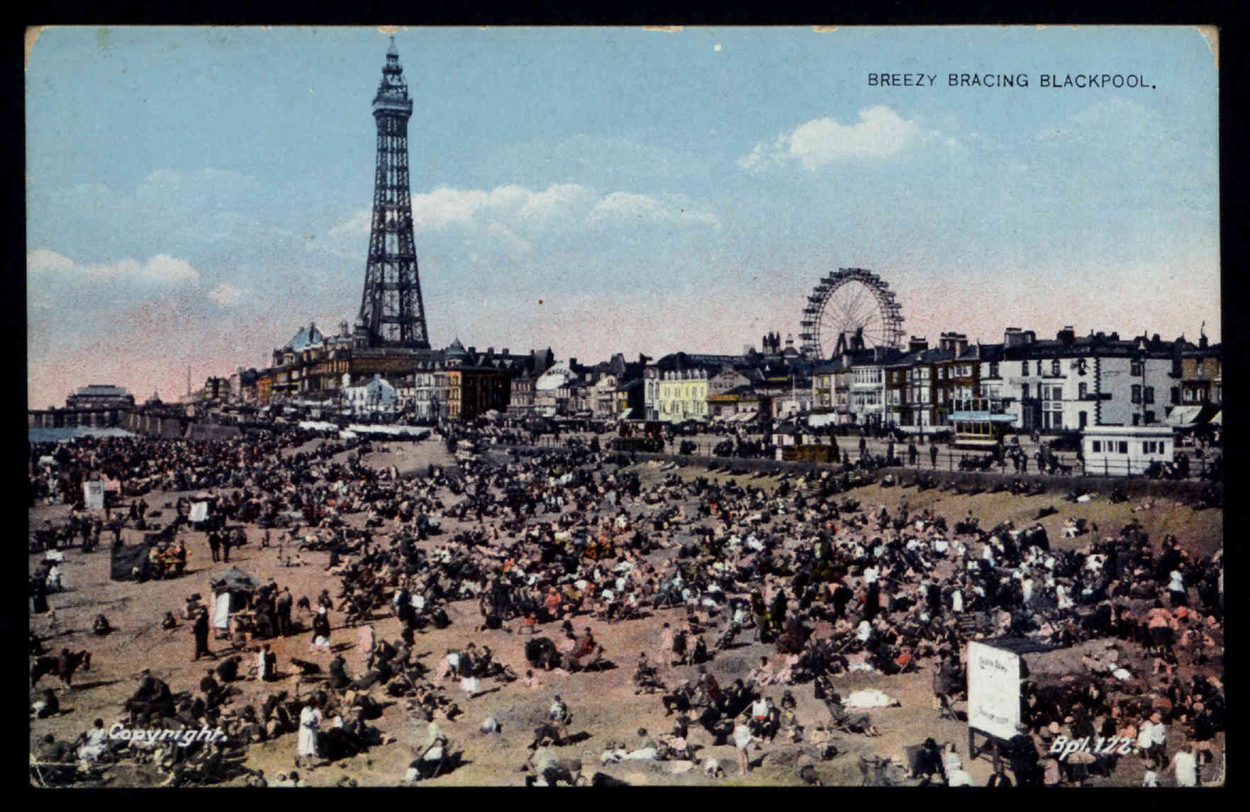 Breezy Bracing Blackpool. Copyright Cyril Critchlow Collection, Local and Family History Centre, Blackpool Central Library