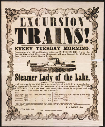 Excursion Trains! Copyright New Hampshire Historical Society