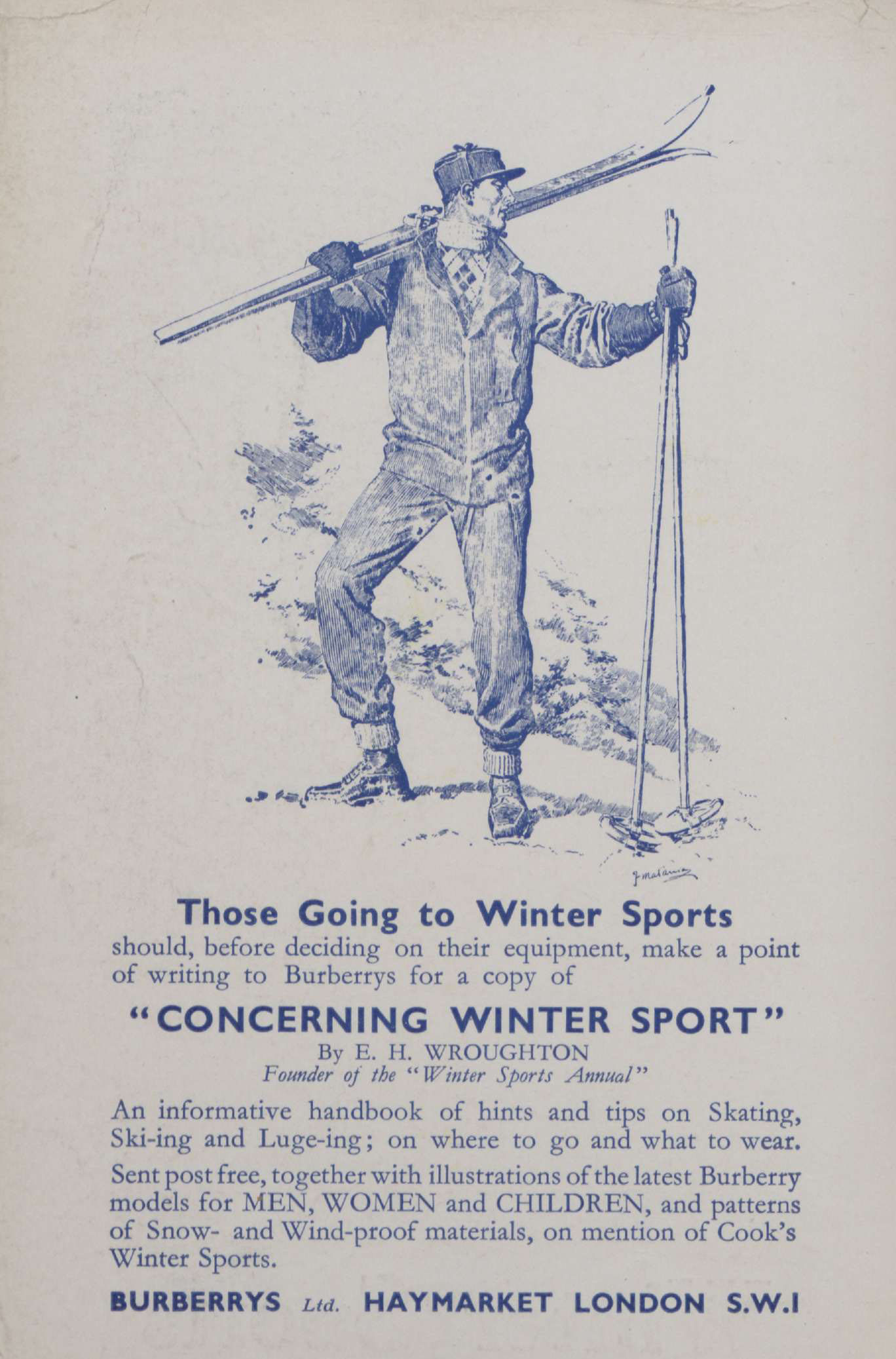 Winter Sports 1931-32. © Permission granted by Thomas Cook Archives