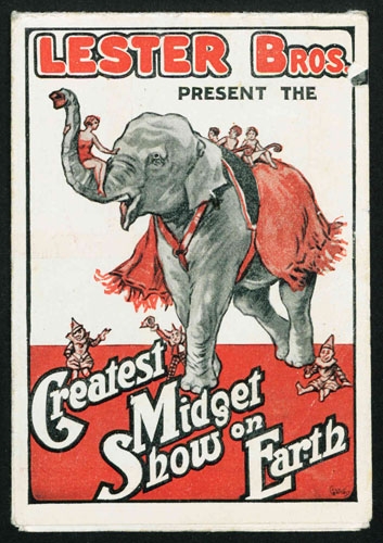 Lester Bros. Present the Greatest Midget Show on Earth. Copyright Cyril Critchlow Collection, Local and Family History Centre, Blackpool Central Library