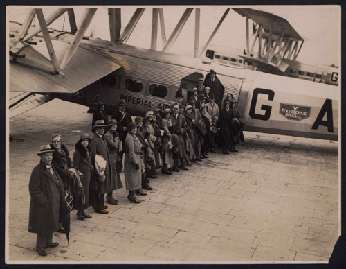 First Escorted Tour by Air to Switzerland: Photograph of the passengers, 14 May 1932. © Permission granted by University of Westminster Archive